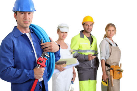 skilled: Different trades Stock Photo