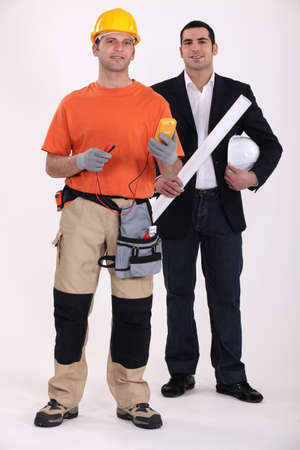 Electrician and architect photo