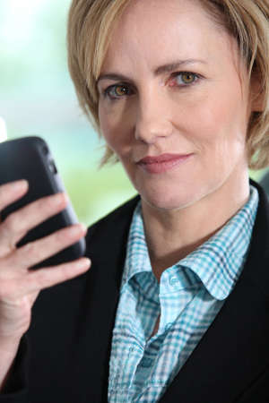 close-up of a businesswoman photo