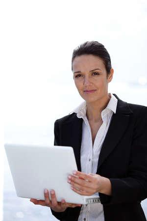 rich life: elegant businesswoman Stock Photo