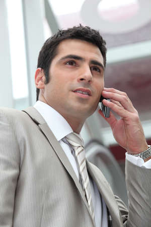 Businessman on the phone Stock Photo - 12909357