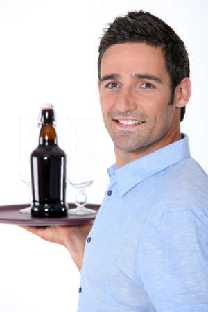 caf: waiter at work Stock Photo