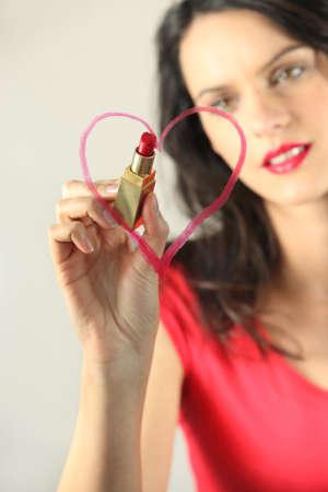 declaration: Heart on the mirror Stock Photo
