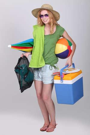 flippers: Chica listo para la playa