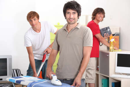 Guys cleaning photo