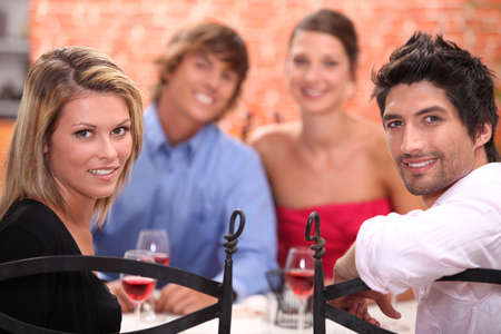 Friends dining Stock Photo - 12908079