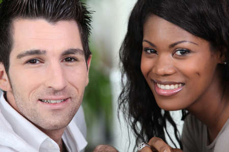 early thirties: Closeup of a couple in their early thirties