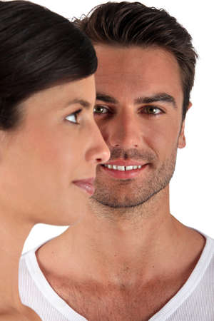 Couple facing different directions Stock Photo - 12597838