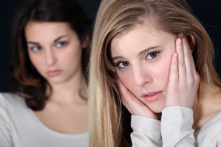 implacable: Les filles ayant un combat Banque d'images