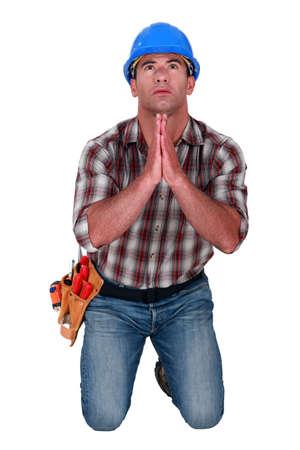 an obeisance: craftsman praying