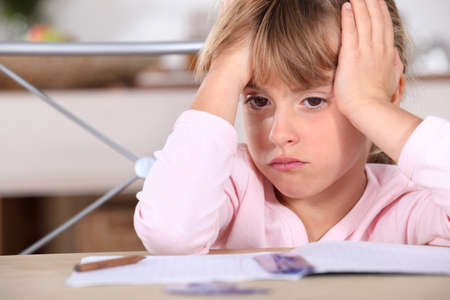 A frustrated young girl photo