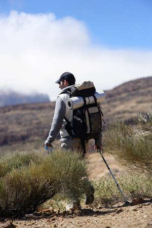tramping: Hiker Stock Photo