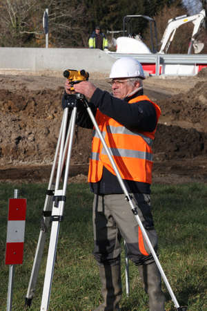 Man surveying site Stock Photo - 12763390