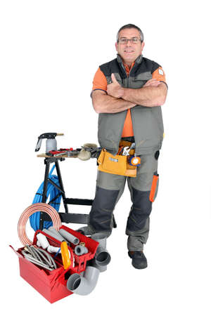 median age: Plumber and tools