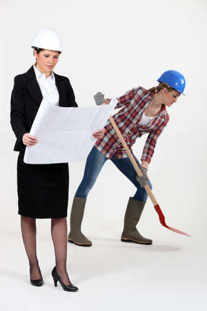 Worker and female architect Stock Photo - 12911525