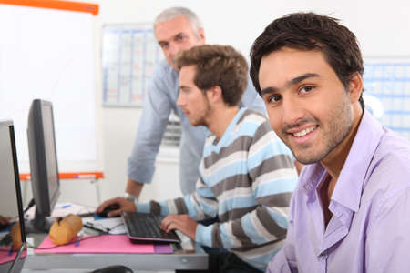 computer training: Men in computing training