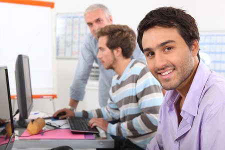 Men in computing training Stock Photo - 12913022