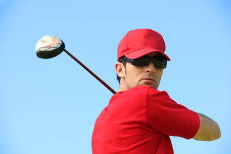 Golfer head and shoulders  photo