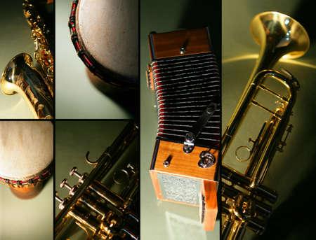 african sax: Instrument mosaic