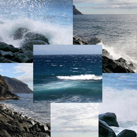 Collage of ocean landscapes photo
