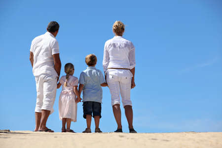 Family at the seaside photo