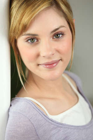Young blond woman portrait Stock Photo - 12727851