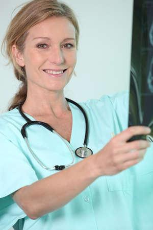 nurse holding radiography Stock Photo - 12729210