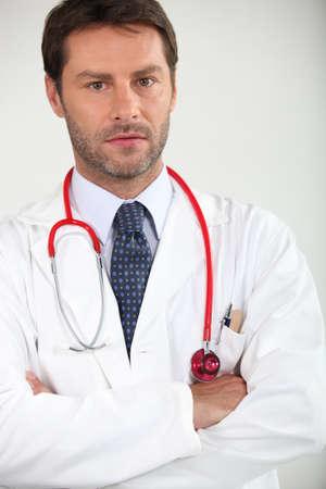salud publica: Retrato de un médico del hospital Foto de archivo