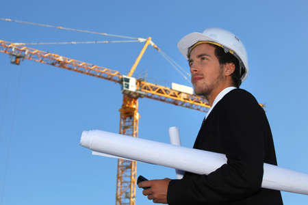 property management: Architect on construction site