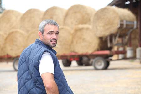 agronomist: Farmer  verifying stock