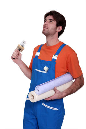 affix: handyman going to stick roll papers