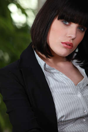 come hither: Sexy business woman