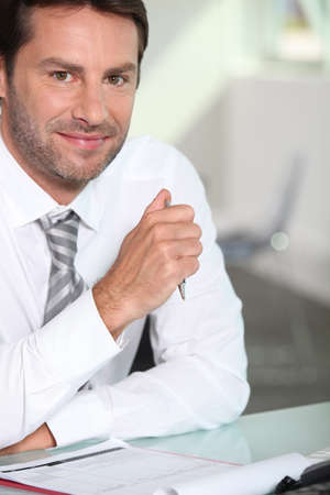 one of a kind: Businessman Stock Photo
