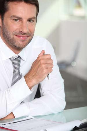 1 mature man: Businessman Stock Photo