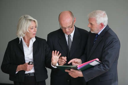 Businesspeople discussing a project photo