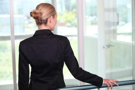 woman back view: Businesswoman