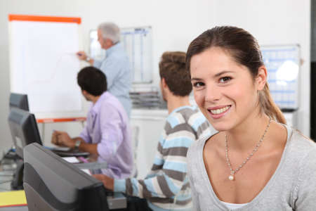 co worker: colleagues on a vocational training
