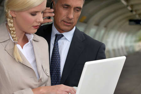 businessman and his assistant on business trip Stock Photo - 12500096