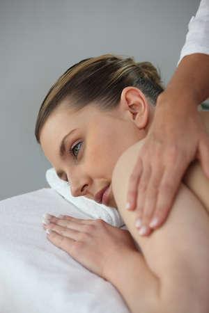 Woman having a massage Stock Photo - 12499572