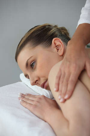 Woman having a massage Stock Photo - 12499572