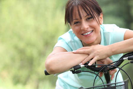 Woman on bicycle photo