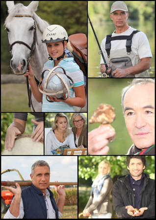 composite image: Montage of outdoor leisure activities