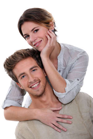 Casual fashionable couple photo