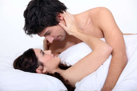 erotic couple: Couple staring lovingly into each other