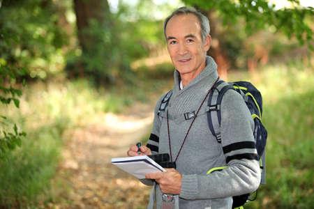 pastimes: man hiking Stock Photo