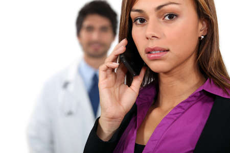 quivering: Portrait of a medical receptionist Stock Photo