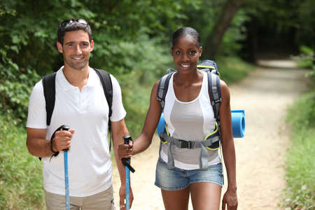 Couple hiking Stock Photo - 12500463