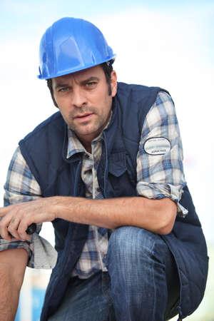 Confident foreman photo