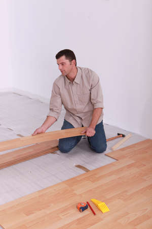 Man laying wooden photo