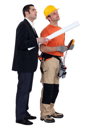 An architect and his electrician  photo